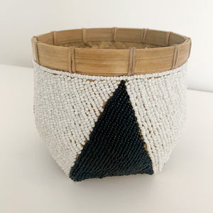 Bamboo Beaded Bowl [Black / White]