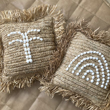 Palm Raffia Cushion by NMP