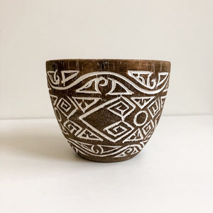 Small Tribal Wooden Carved Bowl