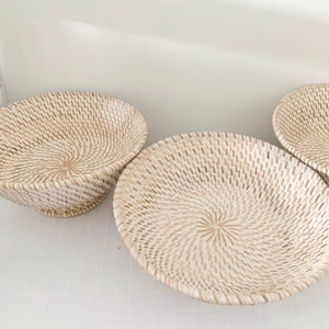 Rattan Bowl [Whitewash]