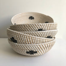 Mixed Rattan Bowl