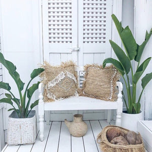 LUANA Raffia Cushion by NMP