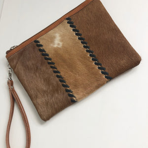 Cow Hide Leather Clutch