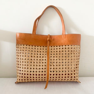 Rawa Leather & Rattan Bag