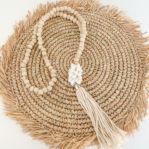Palawan Beaded Shell Tassel