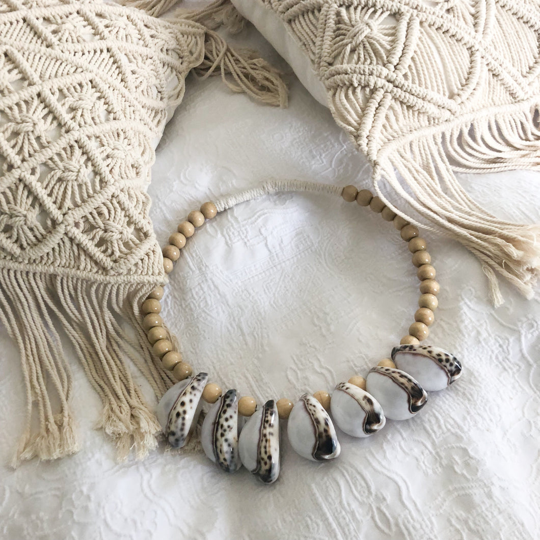 Tiger Cowrie Shell Necklace