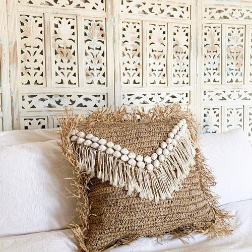 KALIYAH Raffia Cushion by NMP