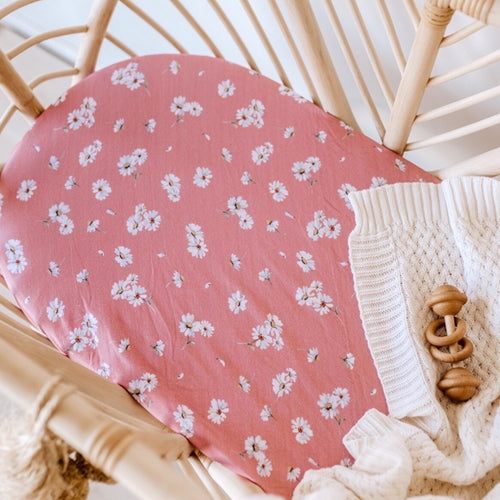 [Pre-Order] Daisy Bassinet Sheet / Change Pad Cover