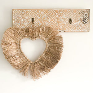 Raffia Heart Wall Hanging