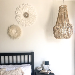 Avery Beaded Chandelier (Natural)