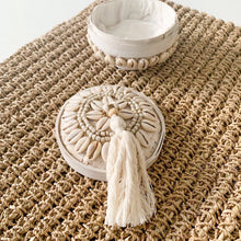 Arwana Shell Beaded Basket