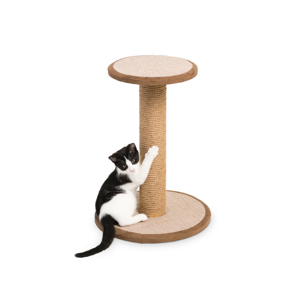 Kitty Power Paws Short Round Platform Scratching Post 21 5/8