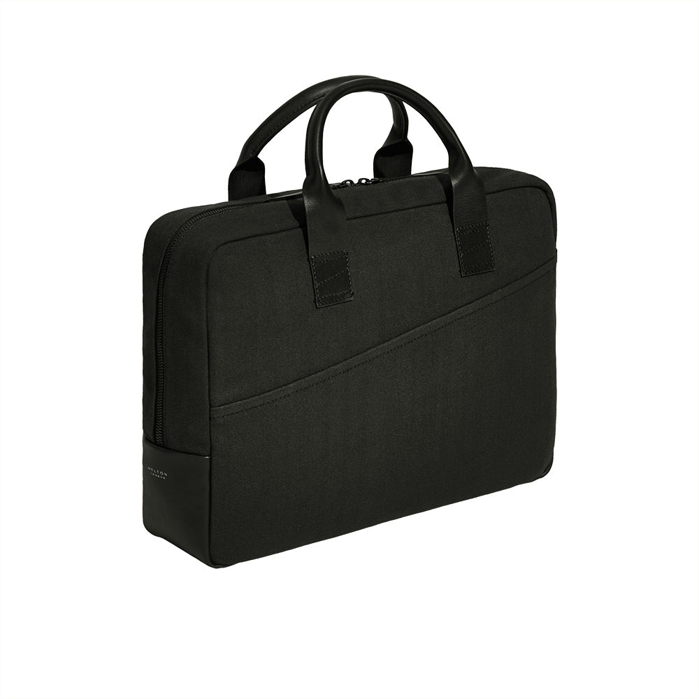 Atlantic Black Cotton Briefcase