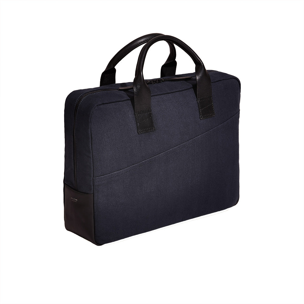 Midnight Blue Cotton Briefcase