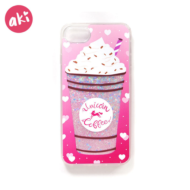 check out 8481e ae7f5 AKI Glitter Liquid Quicksand Phone Cases for iPhone X 10 8 7 6 6S Plus Case  Bling Unicorn Water Sequins Paris Snow Globe Cover