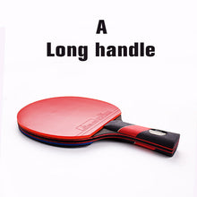 Best quality carbon bat table tennis racket with rubber pingpong paddle short handle tennis table rackt long handle offensive