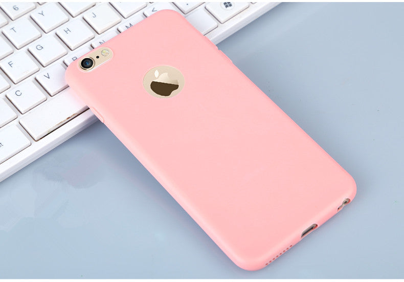 Candy  Soft TPU Silicon phone cases Coque with logo window Accessories For iPhone X 5 5S SE 6 6S 7 8 Plus Fundas luxury Cover