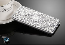 3D Case For iPhones Cases Luxury 3D Diamond Texture Soft TPU Clear Back Cover