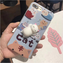 Cat Phone Case For iPhone 7 6 6s KISSCASE 3D Cute Cartoon Silicon Ultra Hard Phone Cases For iPhone 6s 6 7 Plus Case Coque Cover