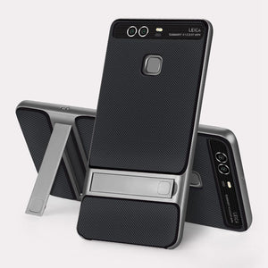 For Huawei P9 Case 5.2 inch TPU + PC 2 in 1 Phone Cases Ultra Thin Phone Stand Cove For Huawei P9 EVA-L09 EVA-L19 EVA-L29 Case
