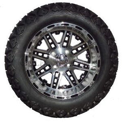 "(4) 14"" Megastar Machined w/ Black Wheels and (4) Backlash 23x10.00-14 A/T Tires"