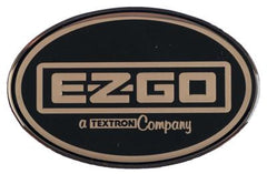 E-Z-GO Oval Decal For ST Cowl with Gold E-Z-GO