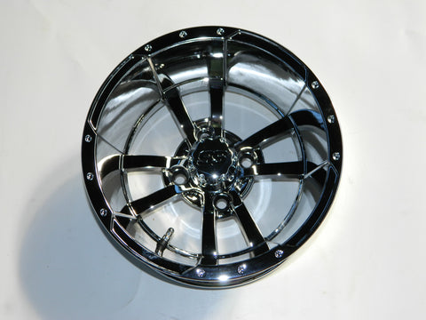 "(4) 12"" Storm Trooper Machined w/ Black Wheels with (4) 23x10.50-12 MGC Multi-Trax II A/T Tires"