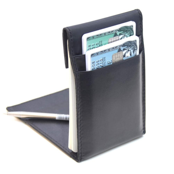 KenzaPad Carbon Black — Minimalist Wallet with Notepad Cards