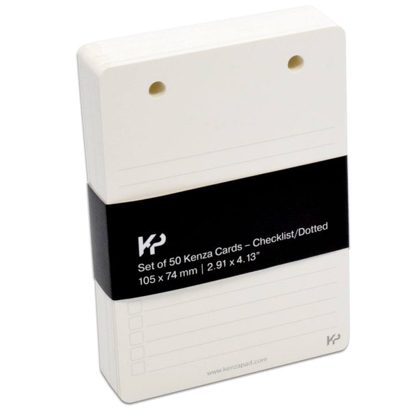 KenzaCards Refillable Notepad Cards (Checklist)