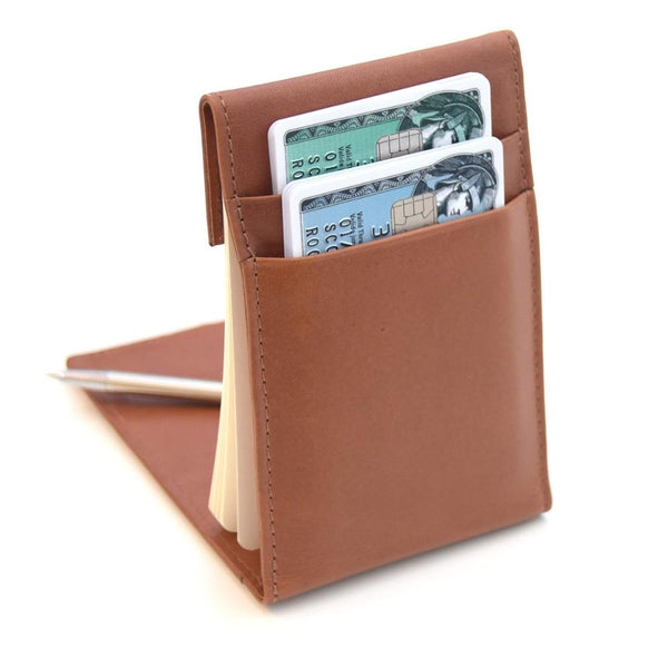 KenzaPad Hazelnut Brown — Minimalist Wallet with Notepad Cards