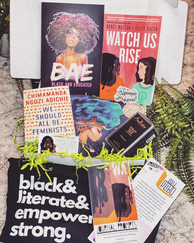 picture of the blacklit box of March featuring my filibo's oprah winfrey pin