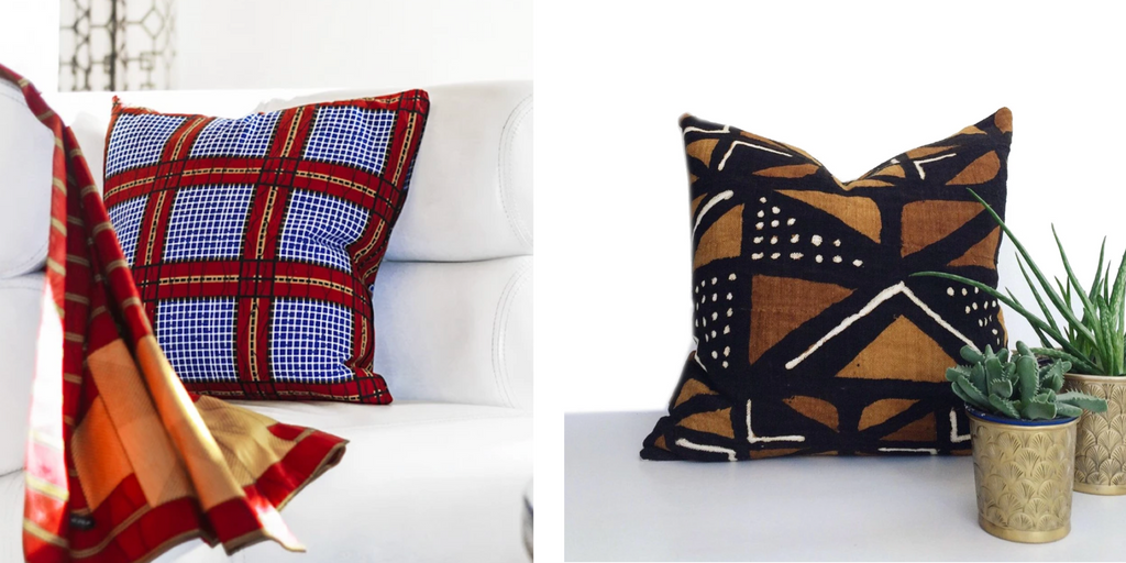 Salun Brown Mudcloth Pillow ONNI CUSHION kwesiya