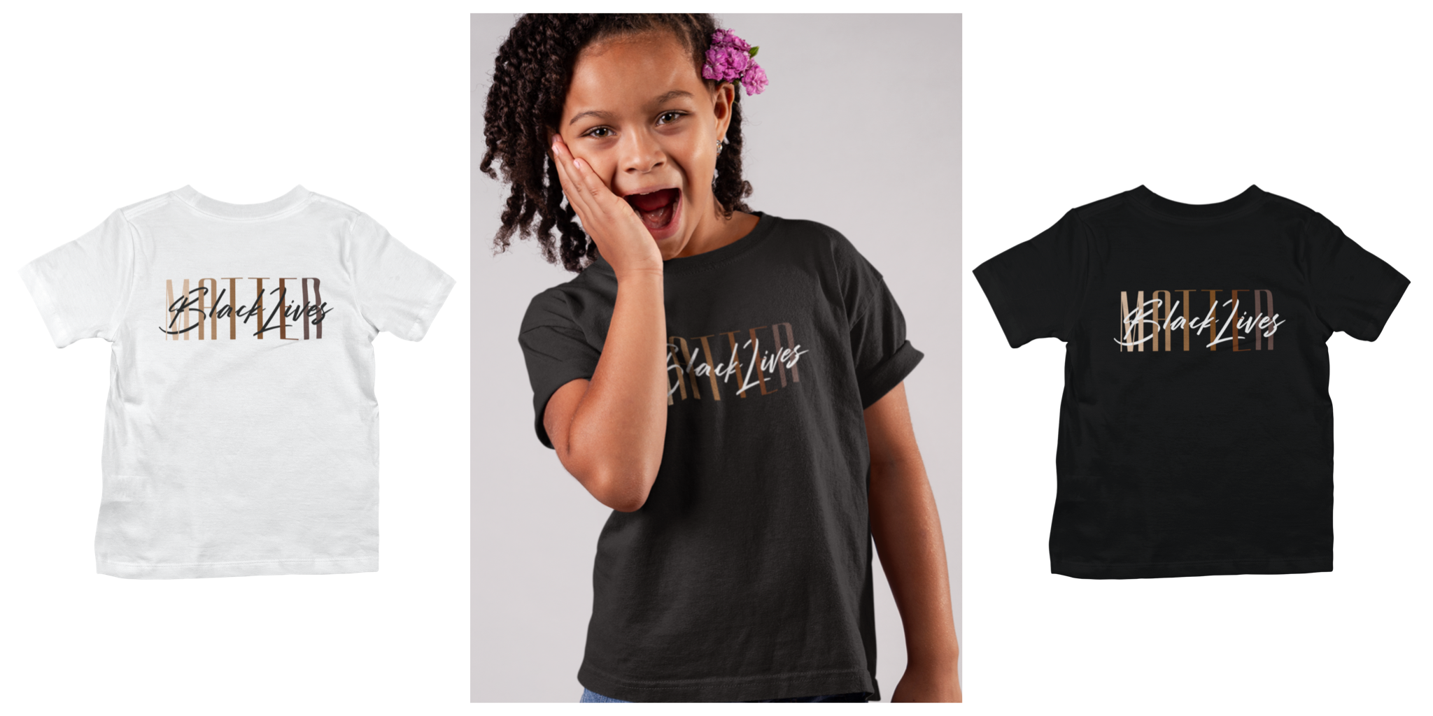 BLM product : kid youth t-shirt