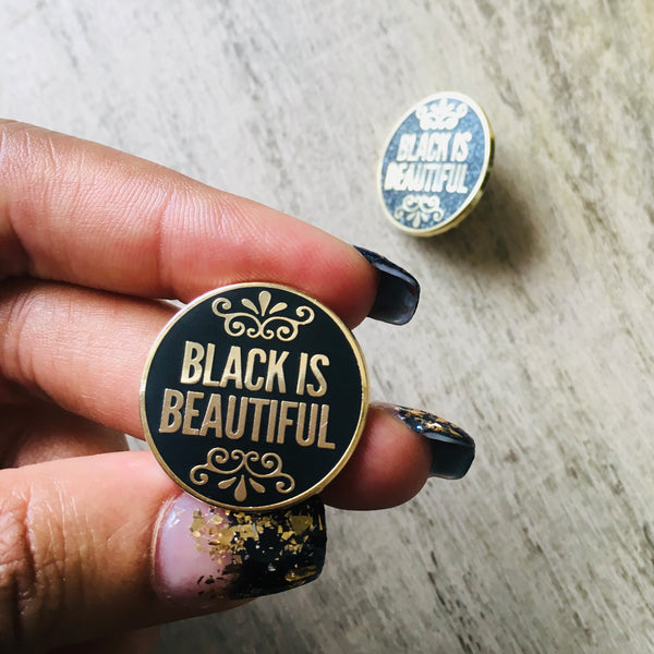 Black is beautiful pin | Enamel pin