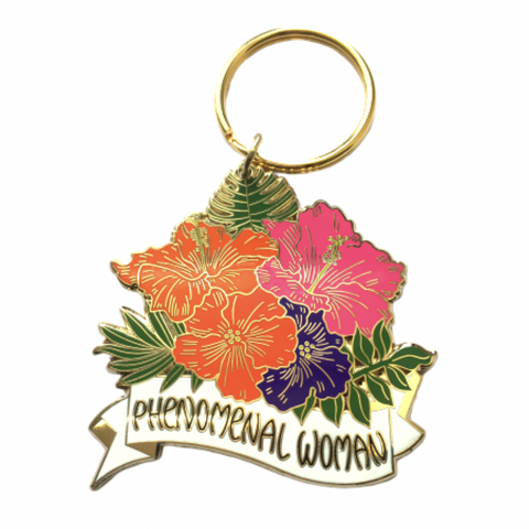 Phenomenal Woman Hibiscus Keychain