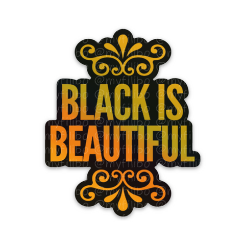 Black Is Beautiful holographic sticker | sticker