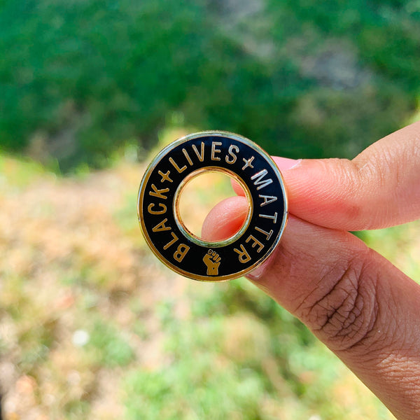 Black lives matter fist pin