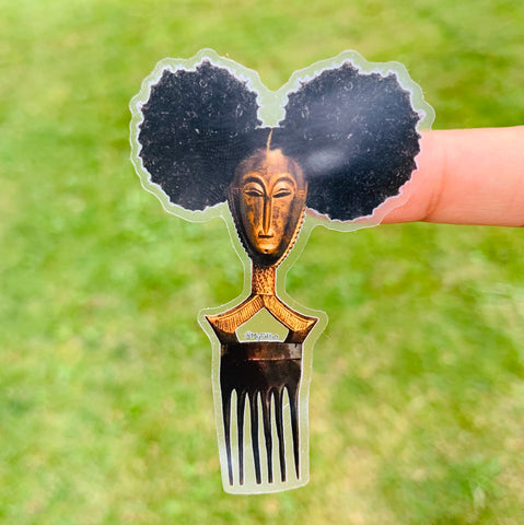 Afro pick mask sticker | Afropuff | sticker
