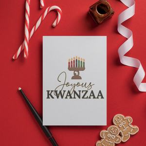 black owned gift guide Joyous Kwanzaa Greeting Card