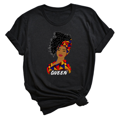 Queen woman t-shirt | African print | African Queen | Natural Hair