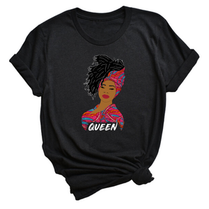 Queen woman t-shirt | African print | Headwrap