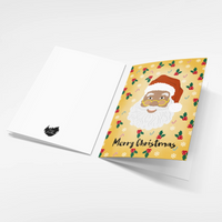 "Black Santa ""Merry Christmas"" greeting card"