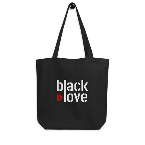 I Love Black Love Tote Bag