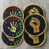 Black lives matter & resist fist patches set
