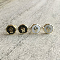 Resist fist cufflinks
