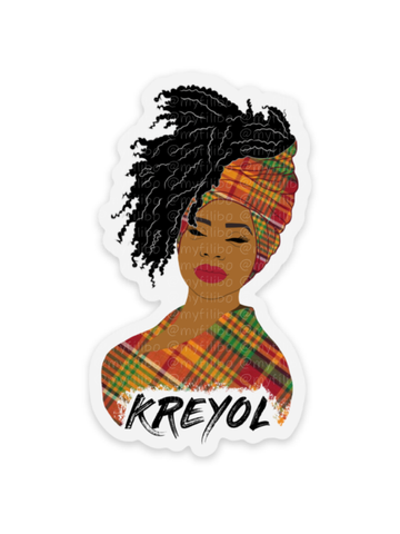 Kreyol Woman clear sticker | sticker