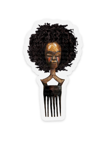 Afro pick mask sticker | Afro | sticker