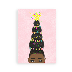 black owned gift guide: My Hair, My Crown Greeting Card