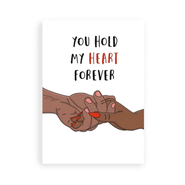 Hold my heart greeting card