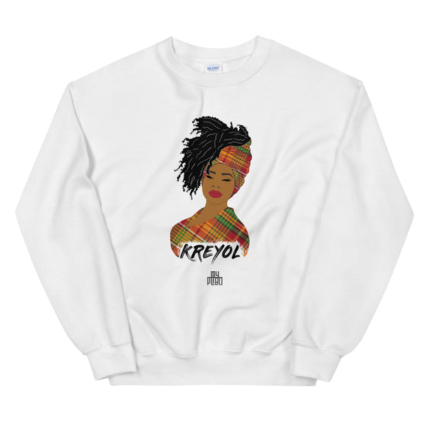 Kreyol woman sweatshirt | Kreyol Queen | Natural Hair
